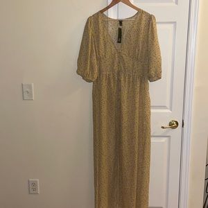Wild fable long button down dress NWT